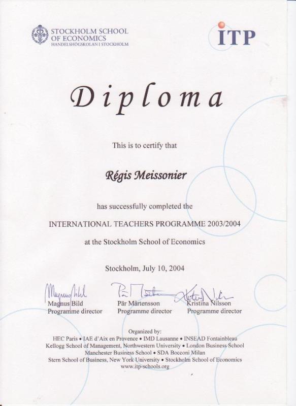 International Teachers Programme, 2003-2004, Stockholm